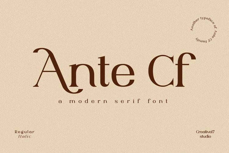 Ante Cf Serif example image 1