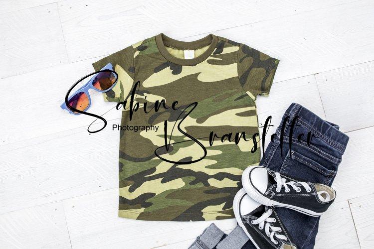 Mockup Boy Camo Military/Hunting T-shirt Photography