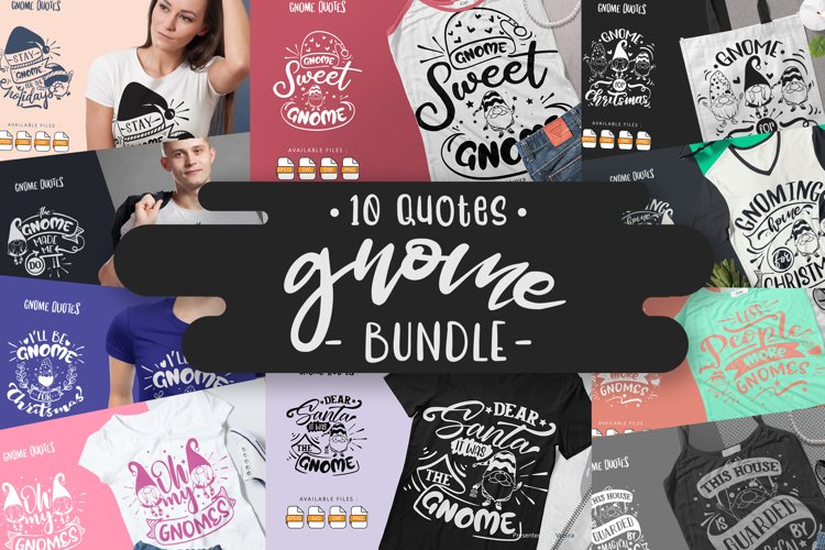 10 Gnome Bundle | Lettering Quotes example image 1