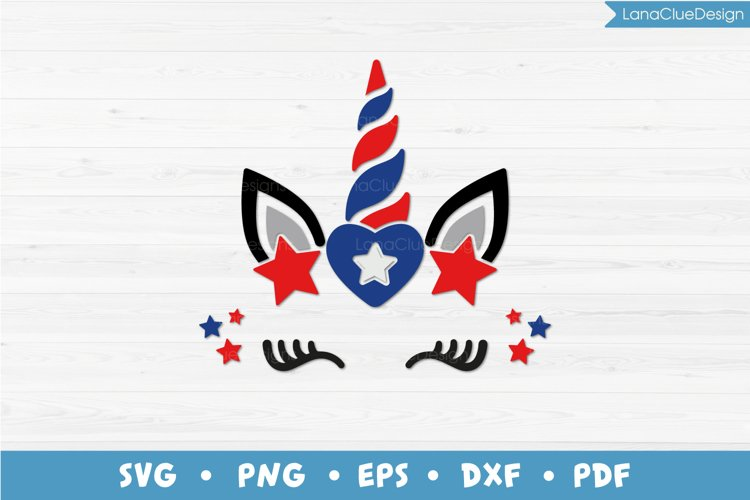 4th of July Unicorn SVG, Patriotic Unicorn, Unicorn Face