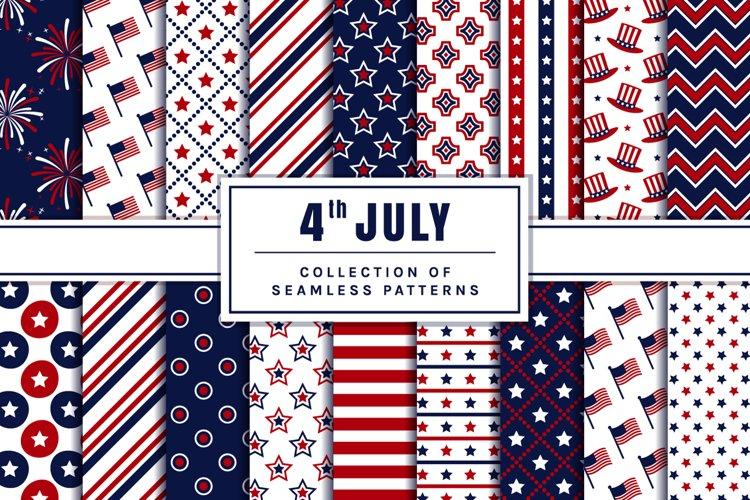 4th of July Seamless Patterns