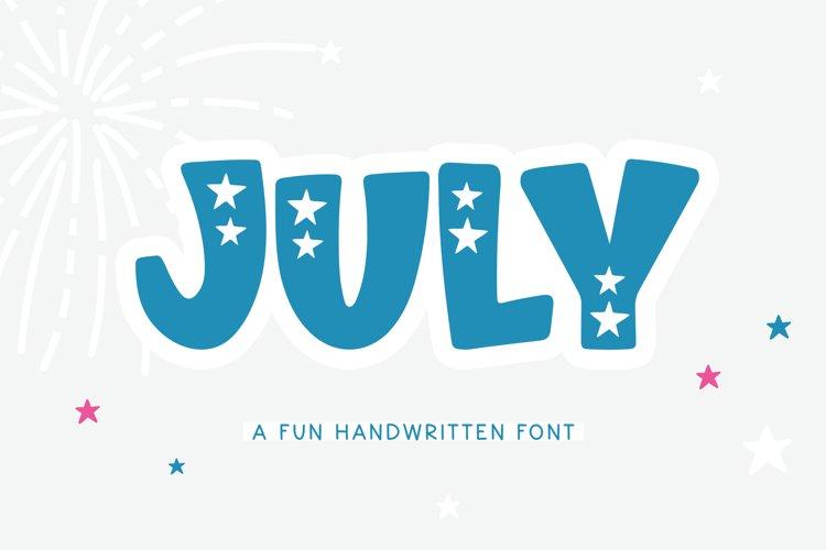 July - A Fun Patriotic Font