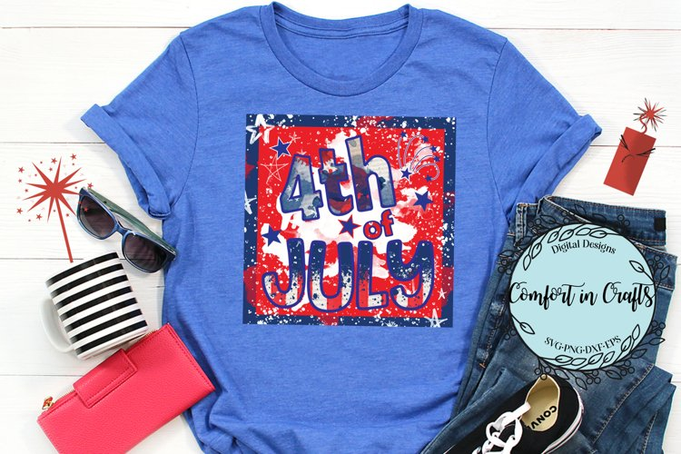 4th of July sublimation printable PNG example image 1