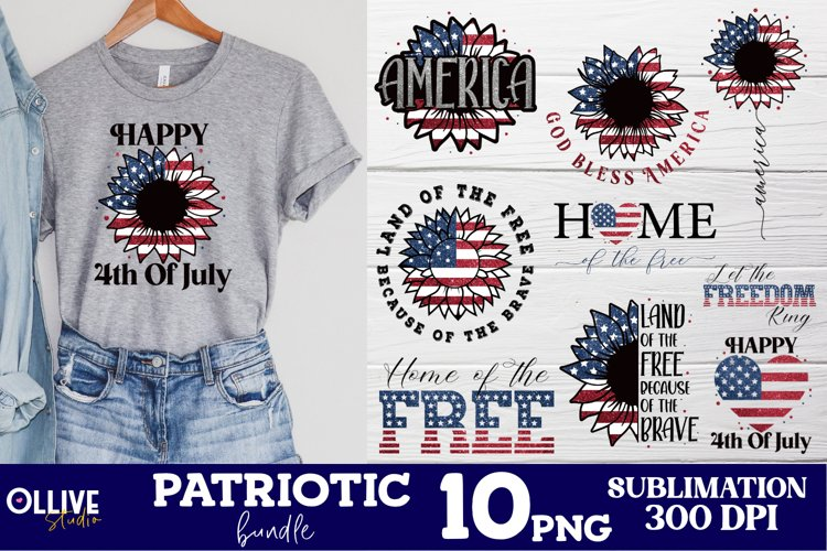 Patriotic PNG Bundle | 4th Of July Sublimation PNG example image 1