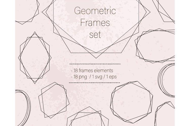Gold geometric frames svg Geometric gold frame clipart