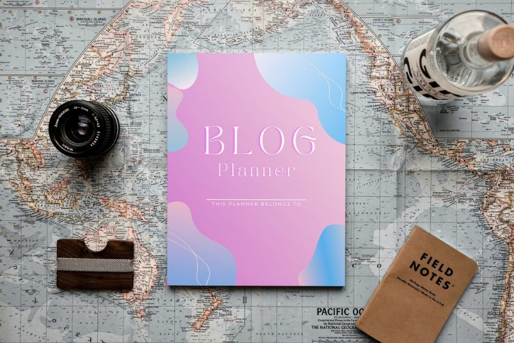 Blog Planner Canva Template example 4