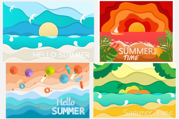 Summer backgrounds example image 1