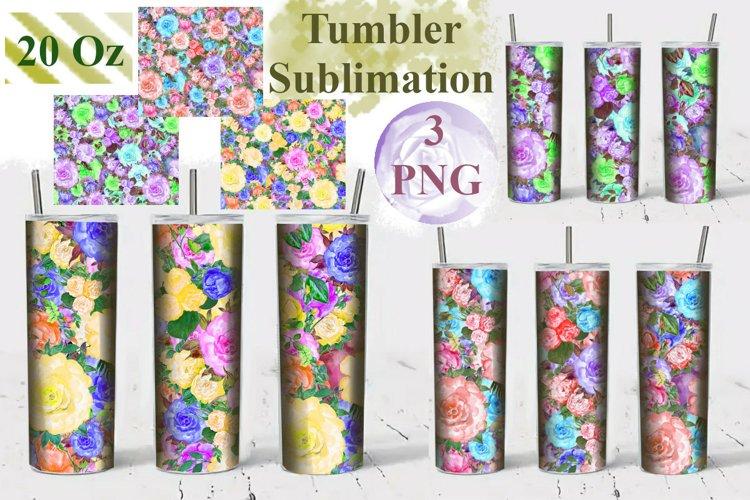 Tumbler Sublimation Flowers 20 Oz