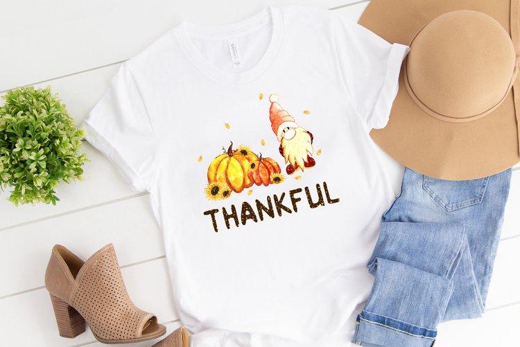 Thankful gnome sublimation design, Autumn t-shirt design