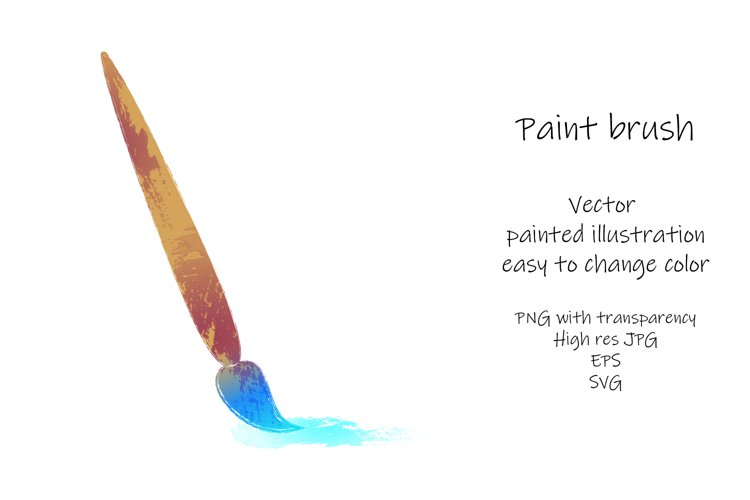 Paint brush. Vector painted illustration