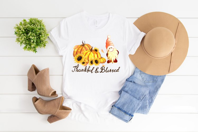 Thankful and blessed sublimation png, Thanksgiving t-shirt