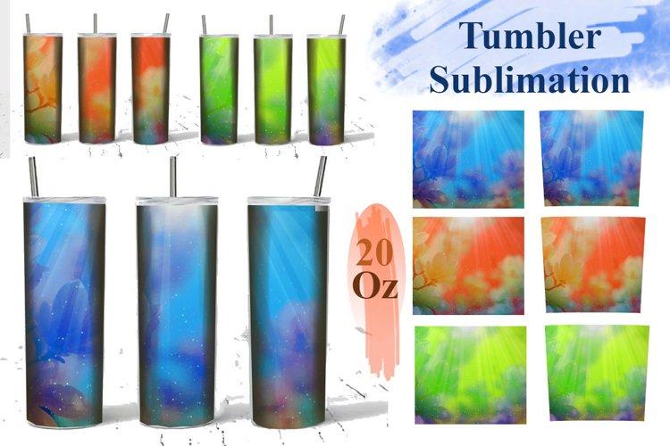 Magic Blue 20 Oz Tumbler Sublimation