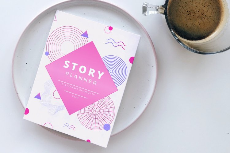 Editable Story Planner Canva Templates example 3