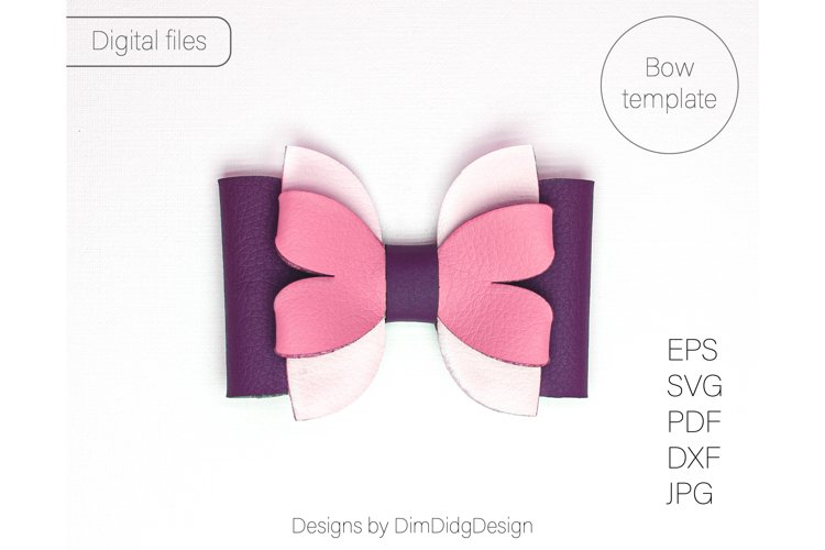 Hair bow svg Leather bow svg Faux leather bow template Hair