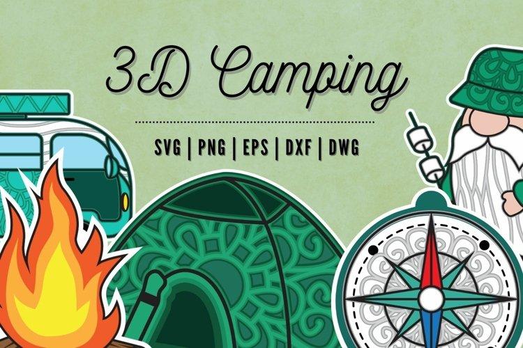 3D Camping SVG Bundle | Camping Tent | | Truck