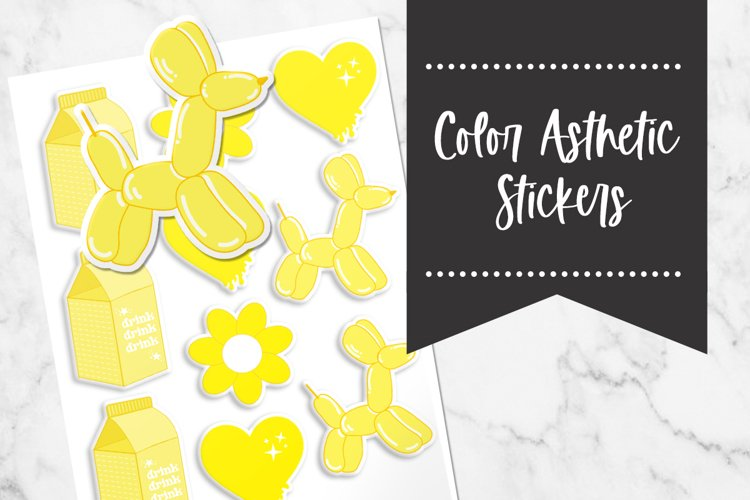 Yellow   Color Asthetic Stickers example image 1