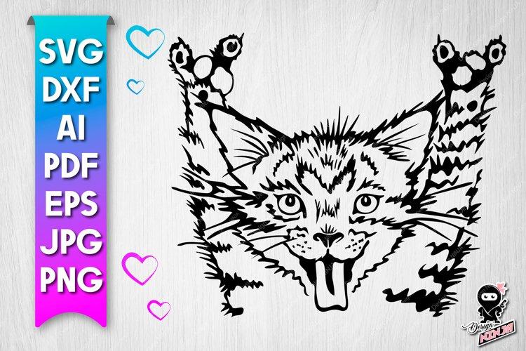 Rock Cat SVG cut file example image 1