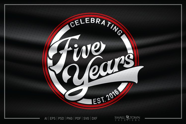 5 years, 2016, Five Years SVG, 5th Birthday SVG example image 1
