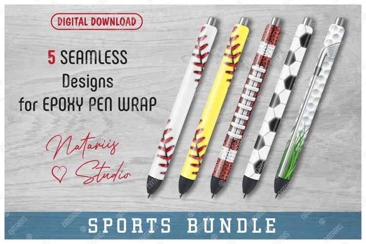 5 Seamless Sports Patterns for Epoxy Pen Wrap