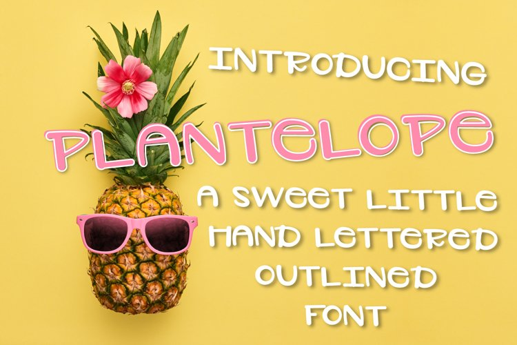 Plantelope - Outlined Font  example image 1