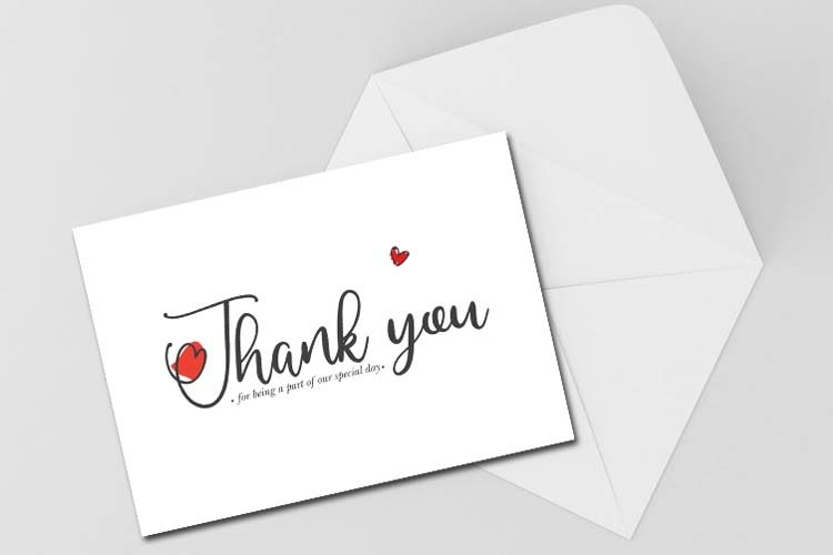 Thank you card, Digital Card, Design, Digital Product example image 1