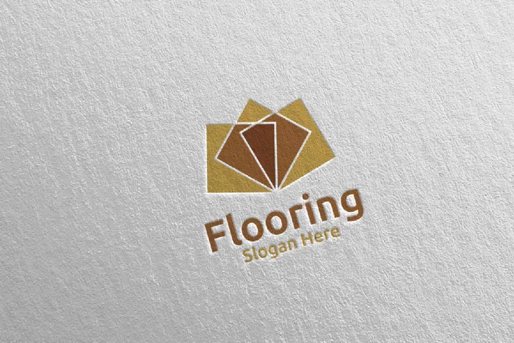 Flooring Parquet Wooden Logo 23 example image 1