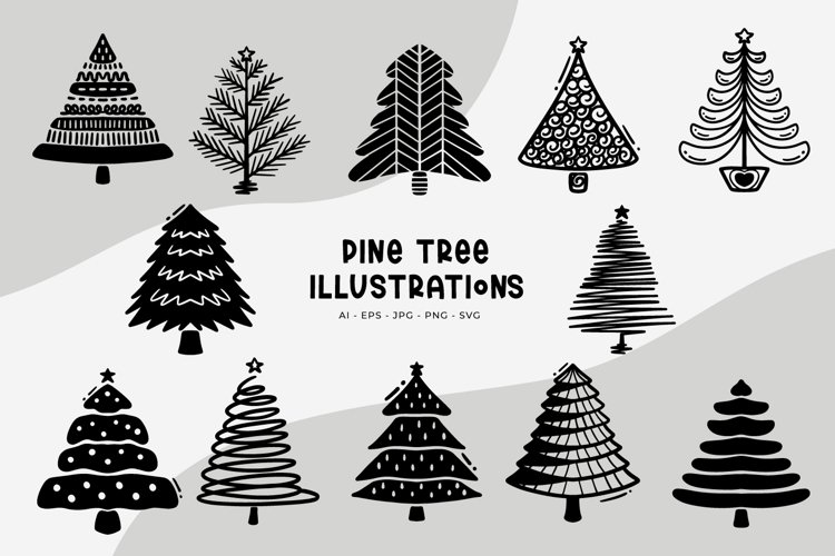 Pine Tree Illustrations