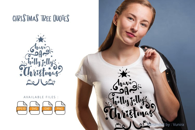Have A Holly Jolly Christmas | Lettering Quotes example image 1