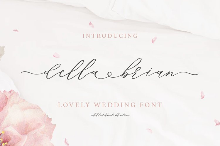 Della Brian - Lovely Wedding Font example image 1
