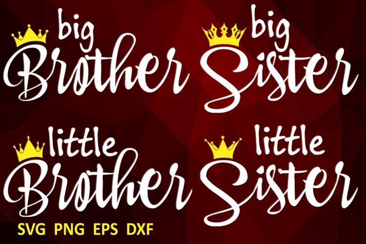 Family svg bundle Big brother svg Big sister svg example image 1