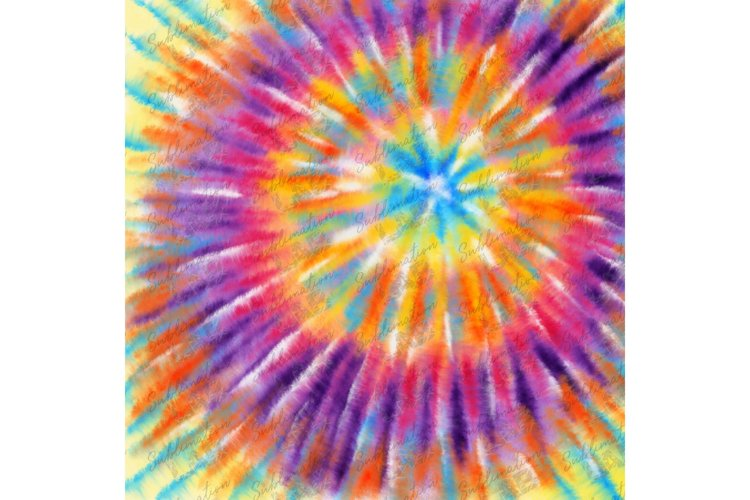 Tie Dye Background Summer Sublimation Design Hippie Rainbow example image 1