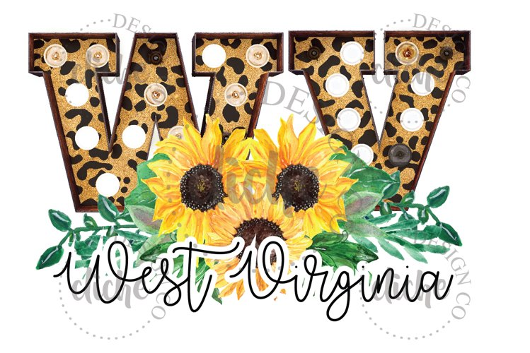 West Virginia State Sublimation Design