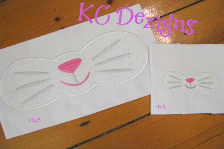 Easter Bunny Mouth Machine Applique Embroidery Design