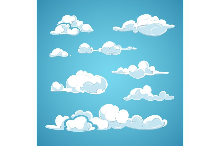 Cartoon clouds vector set example image 1
