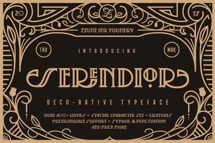 Serendior | Decorative Art Deco Font