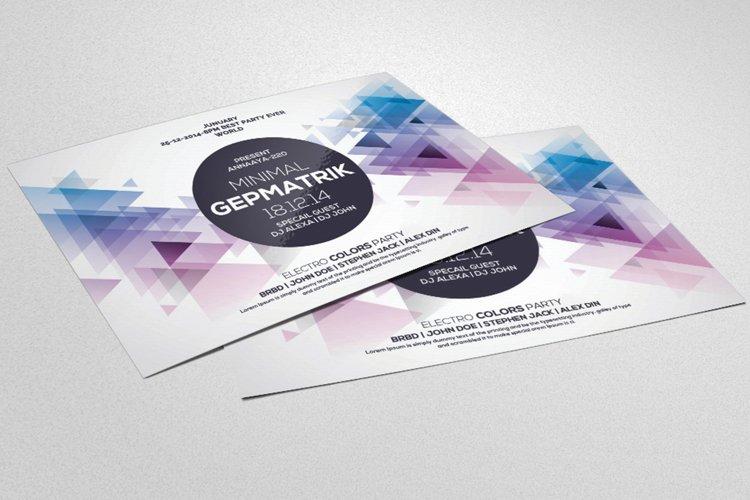 Geometrik Party Flyer Template example image 1