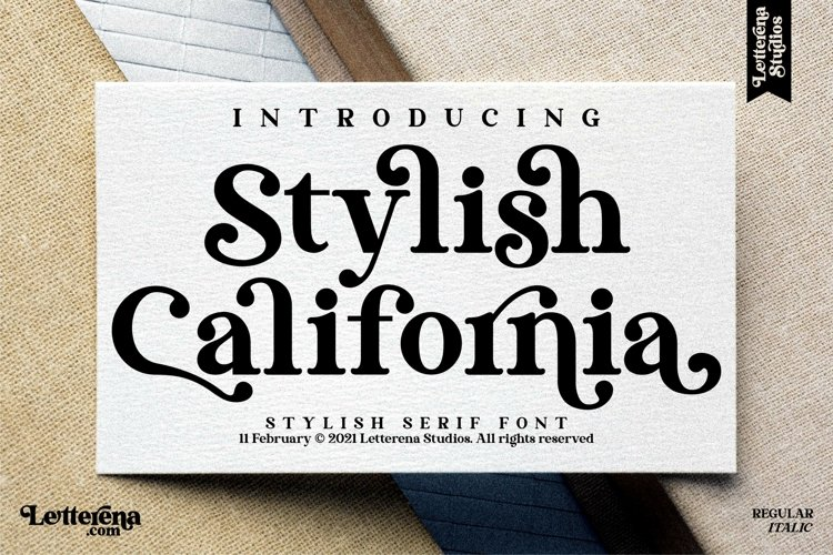 Stylish California - Stylish Serif Font example image 1