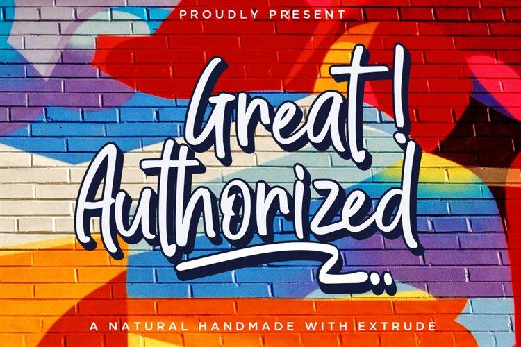 Great Authorized / Handmade Font example image 1