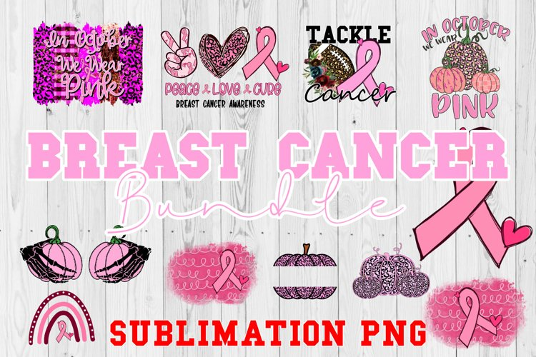 Breast Cancer Awareness Sublimation Bundle