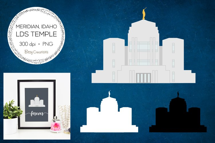 Meridian Idaho LDS Temple Clipart example image 1