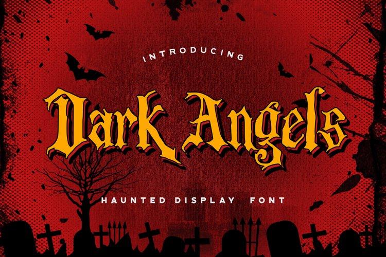 Dark Angels - Haunted Display Font example image 1