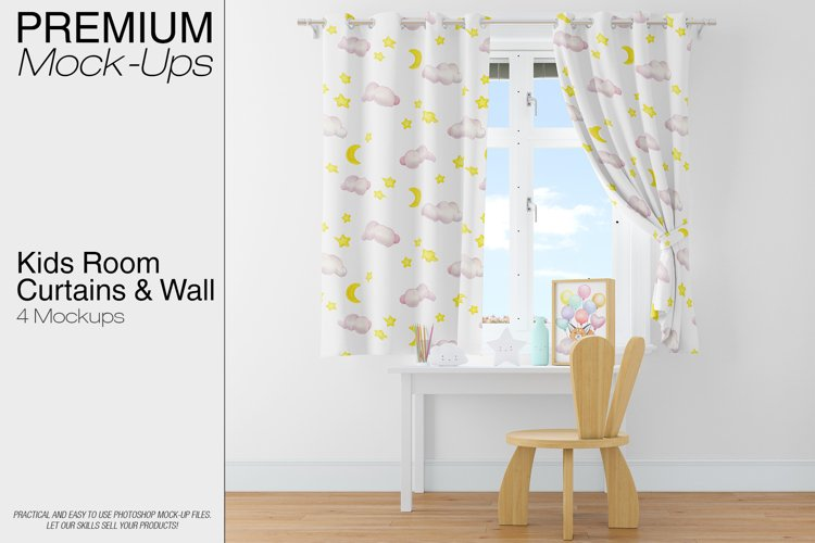 Kids Room - Curtains & Wall Set example image 1