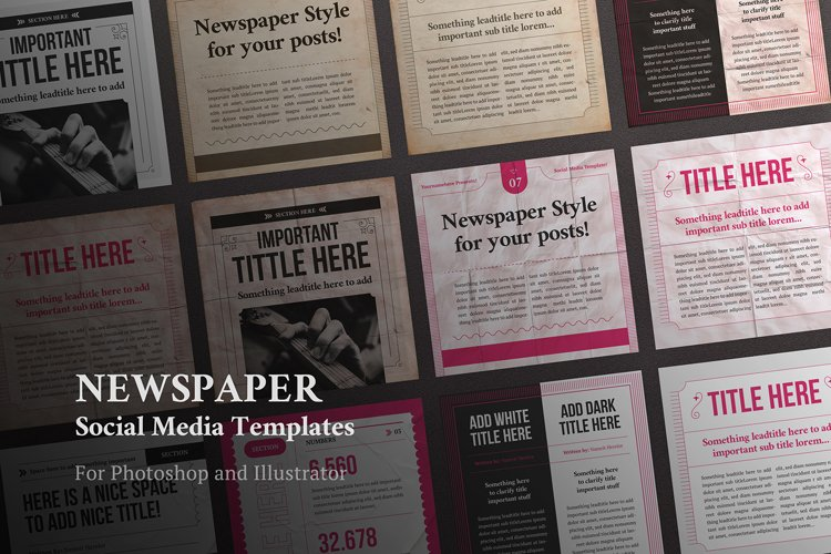 Newspaper Social Media Templates example image 1