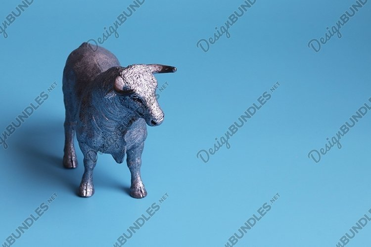 White Metal Bull is the Symbol of 2021 example image 1