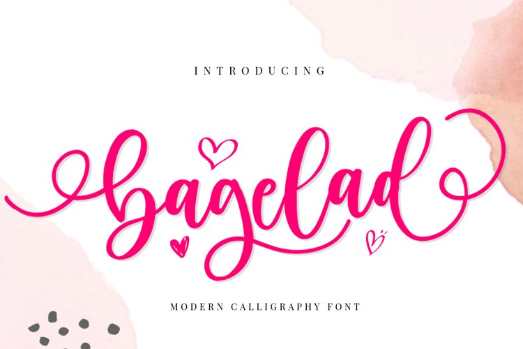 Bagelad - Lovely Script Font example image 1