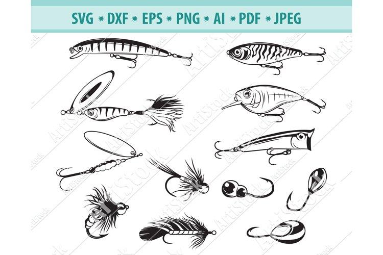 Fishing Bait Svg, Fishing Svg, Fishing Clipart Dxf, Png, Eps