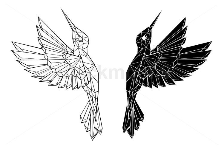 Polygonal Flying Hummingbirds