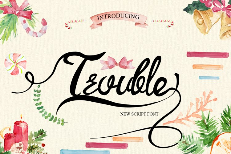 Trouble Script Font example image 1
