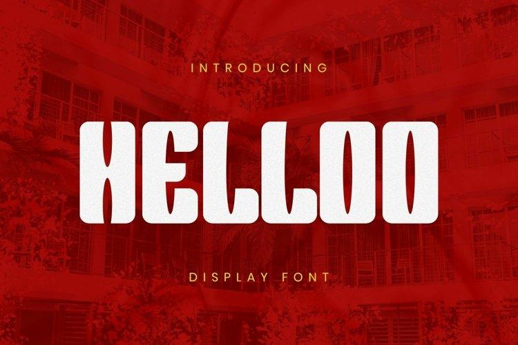 Web Font Helloo Font example image 1