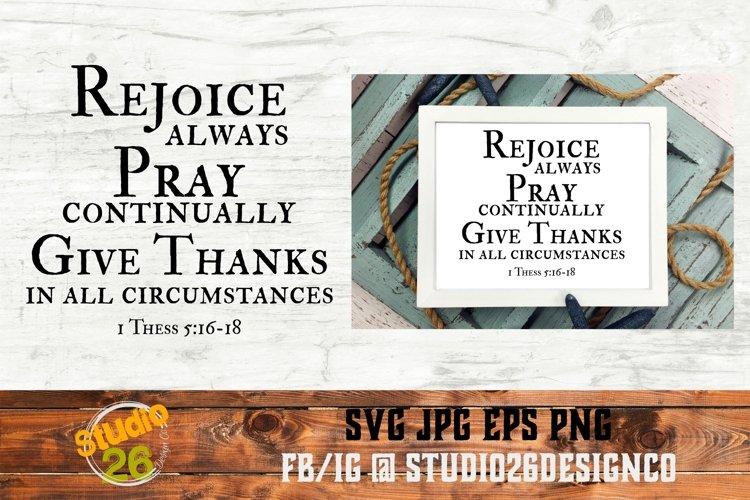 Rejoice - Pray - Give Thanks - SVG PNG EPS